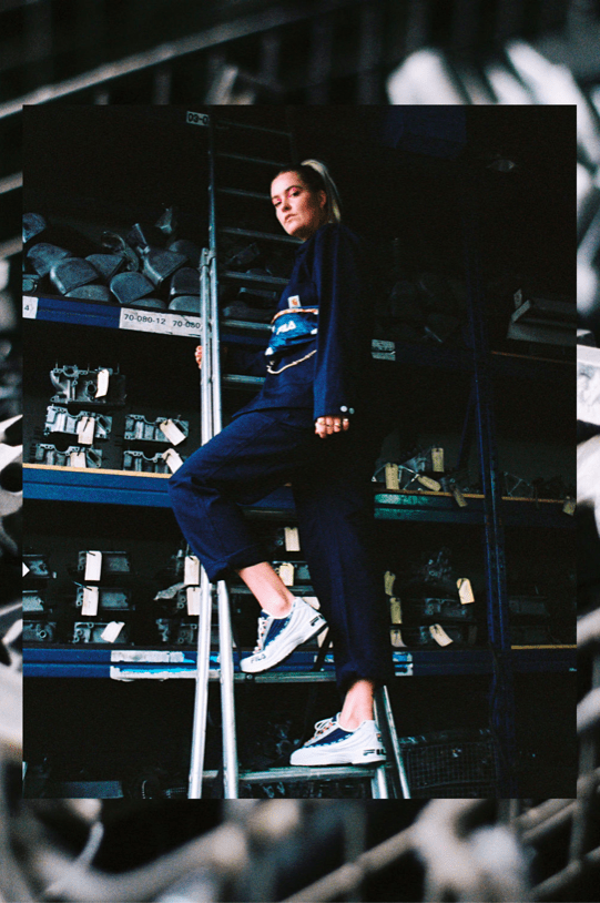 This Girl on Kicks Editorial Re-Introduces FILA's Vintage DSTR97 Design
