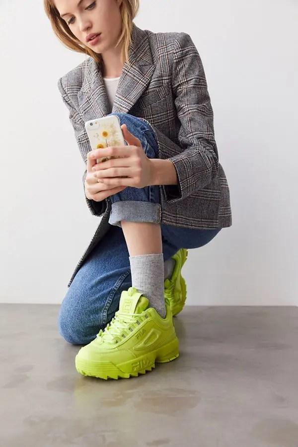 FILA Disruptor 2 Mono Neon Sneaker-01