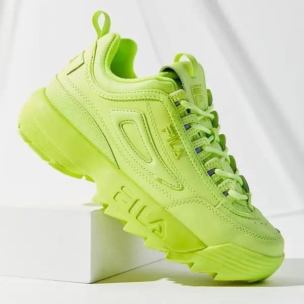 FILA Disruptor 2 Mono Neon Sneaker-02FILA Disruptor 2 Mono Neon Sneaker-02