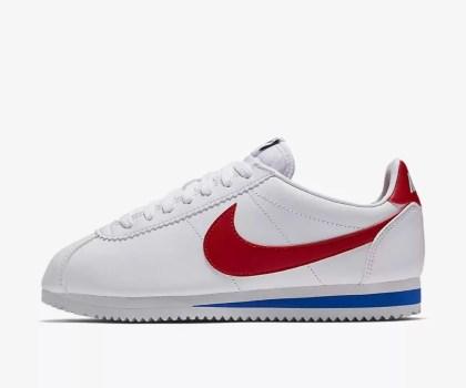 Nike Classic CORTEZ White Red Blue-01