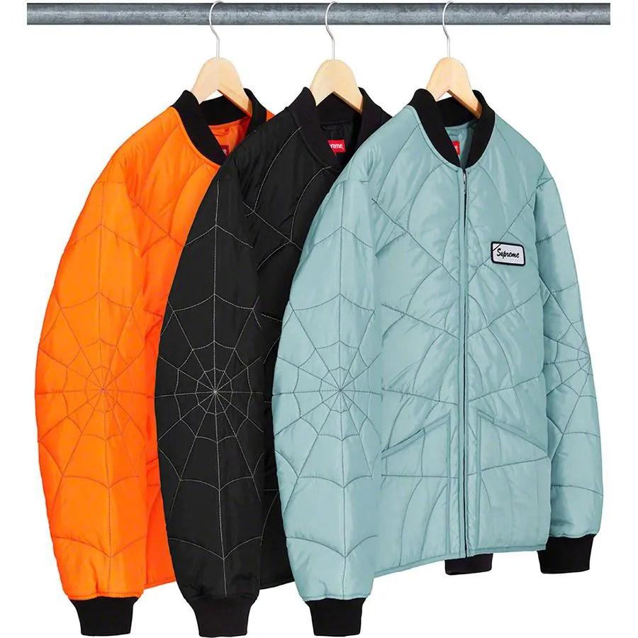 Supreme_2019ss_week 9 _spider_web_quilted_work_jacket