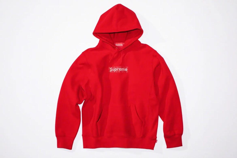 Supreme_2019ss_week 9 _swarovski_box_logo_hoodie_red