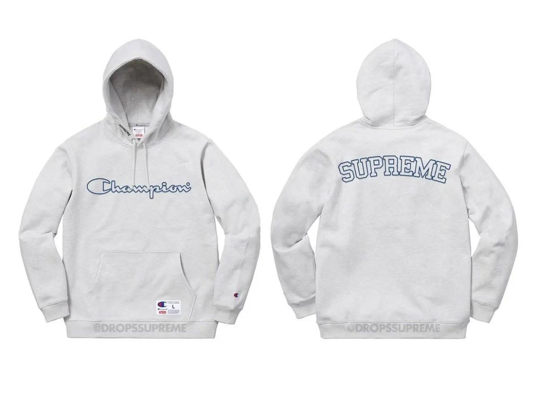 Supreme® Champion® Outline Hooded Sweatshirt-01