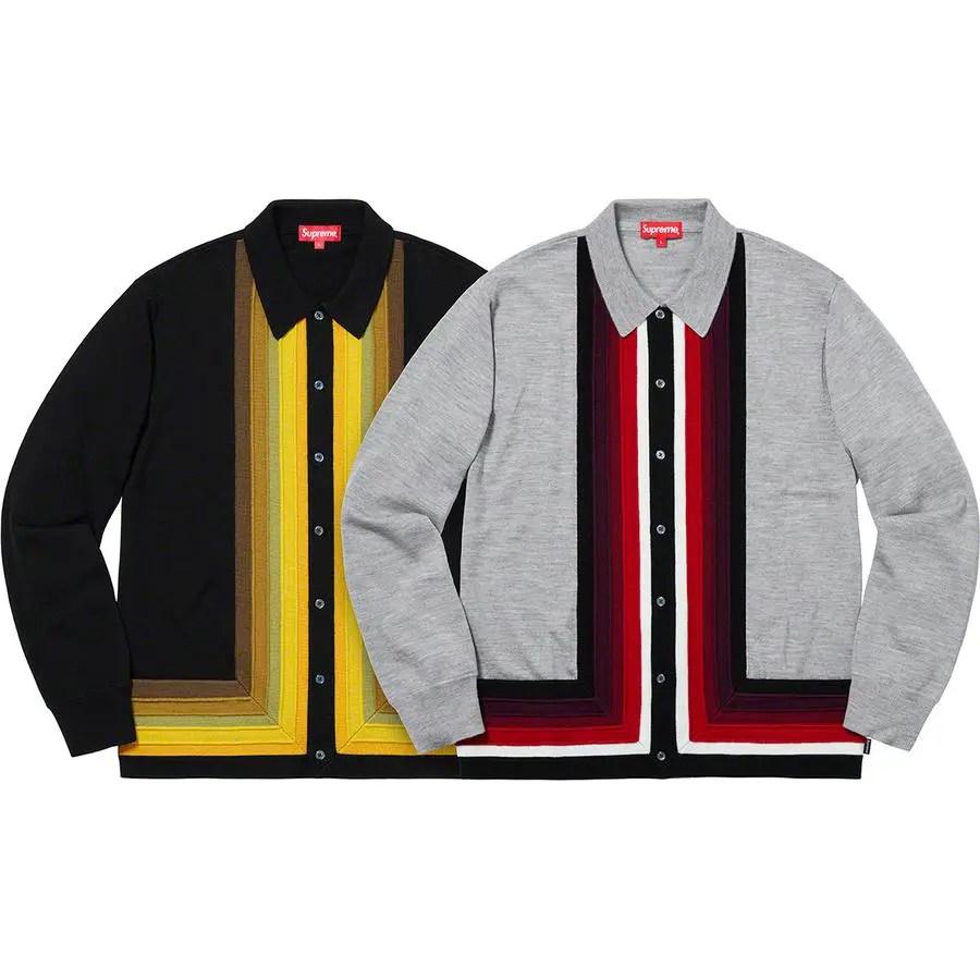 Supreme Corner Stripe Polo Sweater