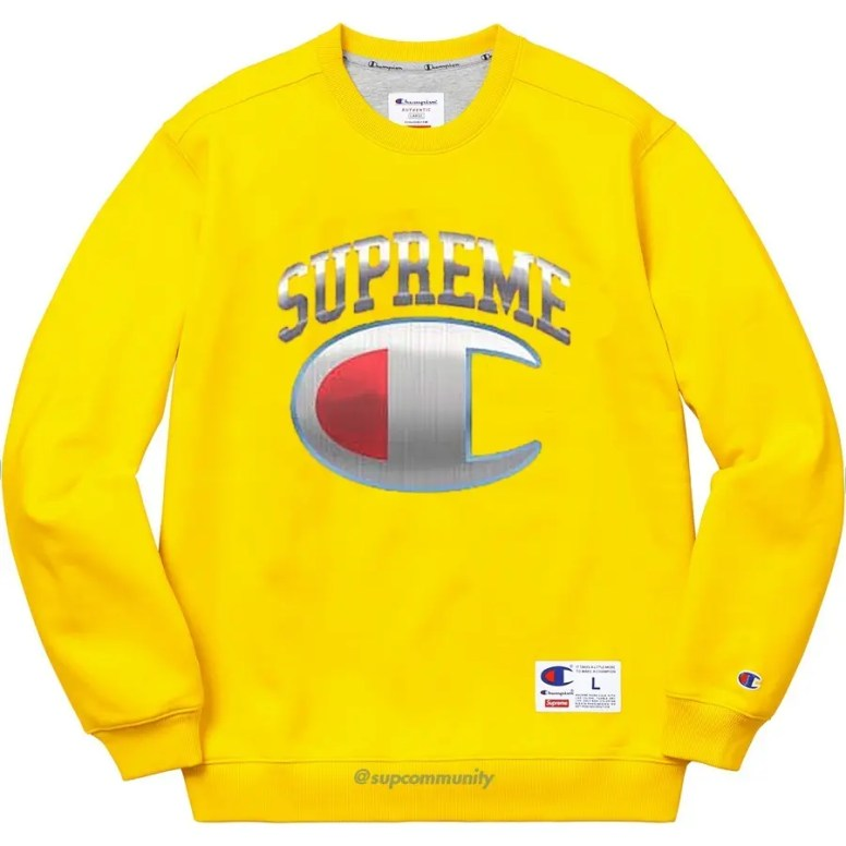 Supreme_2019ss_week14_release_champion_chrome_crewneck_yellow