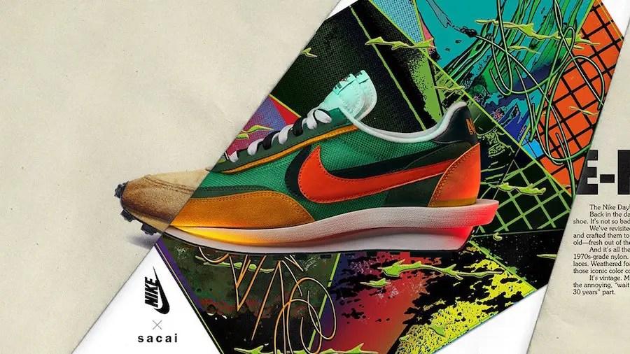 sacai-Nike-LDWaffle-Green-Orange-Release-Date