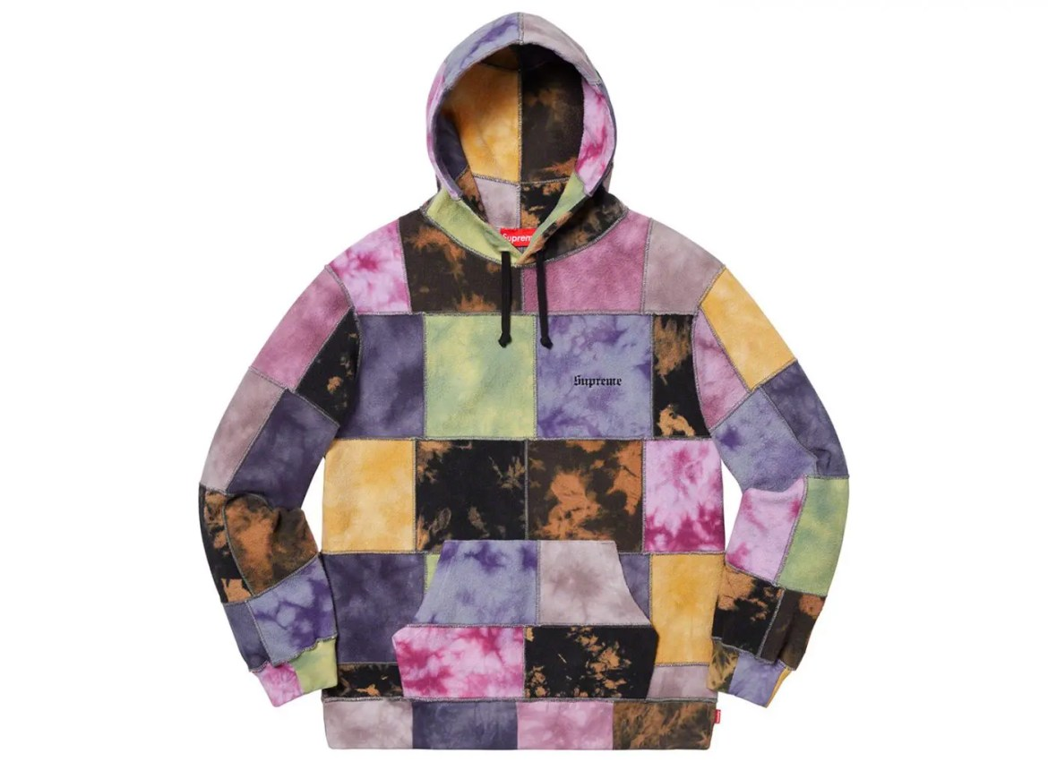 supreme-2019ss-week14-release_Patchwork Tie Dye Hooded Sweatshirt