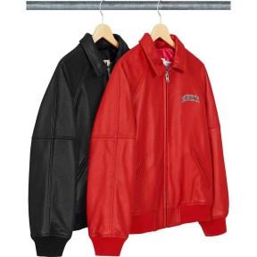 Supreme Martin Wong Supreme Schott 8-Ball Leather Varsity Jacket 2019AW Week 1