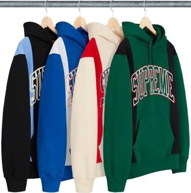 Paneled Arc Hooded Sweatshirt (via Supreme NYC) 2019年 秋冬 新作 Week 4
