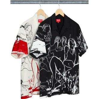 シュプリーム 新作 WEEK 2 (Supreme_2019fw_Rita Ackermann:Supreme Rayon S:S Shirt)