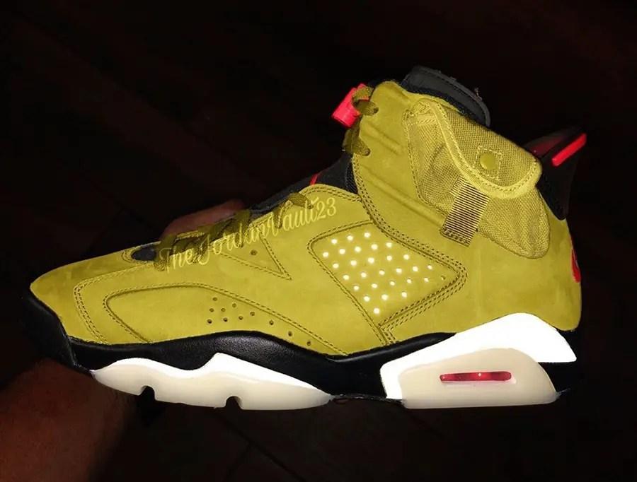 "Travis Scott x Nike Air Jordan 6 ""Yellow Cactus Jack"" (トラヴィス スコット × ナイキ エア ジョーダン 6 ""イエロー カクタス ジャック"")"