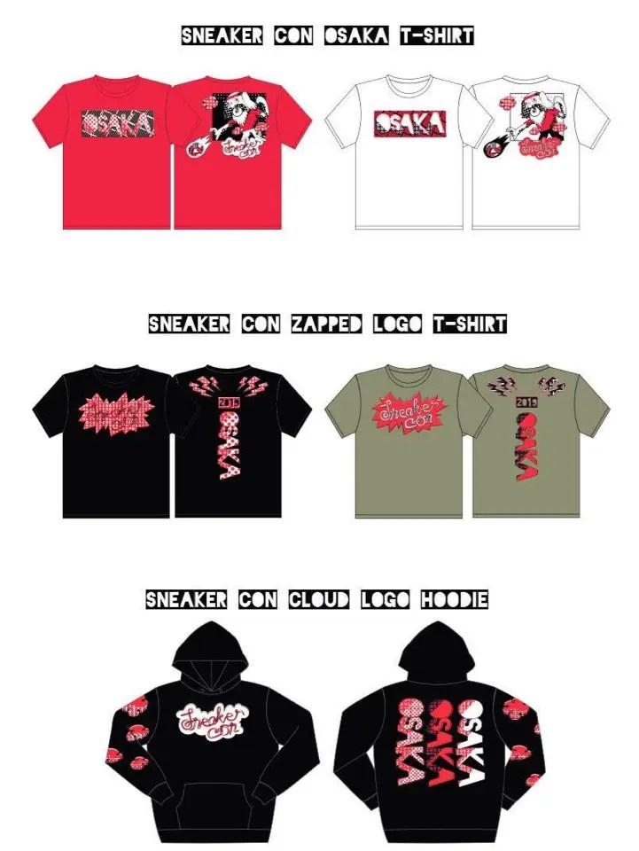 Sneaker Con Osaka Japan Official 2019 スニーカーコン 大阪 日本 2019年 限定 グッズ アイテム 会場 Tシャツ