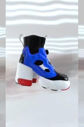 Maison Margiela x Reebok Tabi Instapump Fury メゾン マルジェラ リーボック コラボ 足袋 インスタポンプフューリー ハイヒール blue