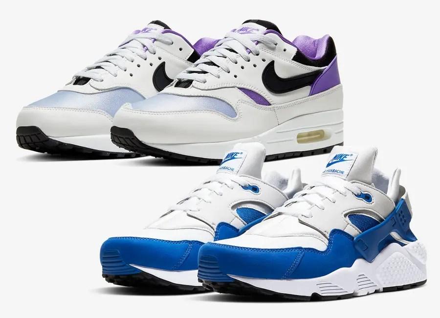 "Nike ""DNA Series 87 × 91 Pack"" Air Max 1 & Air Huarache (ナイキ ""DNA シリーズ 87 × 91 パック"" エア マックス 1 & エア ハラチ) AR3863-101, AR3864-101"