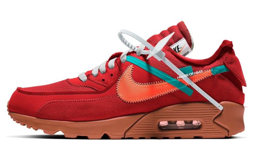オフホワイト x ナイキエアマックス90新作!2020年夏発売予定 (Off-White x Nike Air Max 30 University Red)