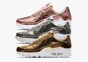 "Nike Air Max 90 ""Metallic Pack"" (ナイキ エア マックス 90 ""メタリック パック"") CQ6639-001, CQ6639-600, CQ6639-700"