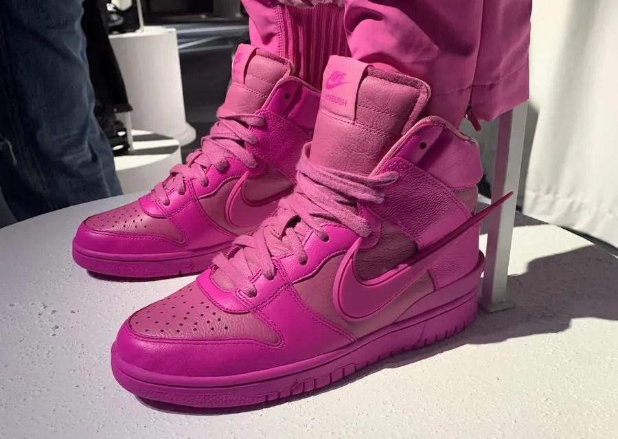 Ambush Nike Dunk High Pink Fuchsia アンブッシュ  ナイキ コラボ ダンク ハイ ピンク フクシア