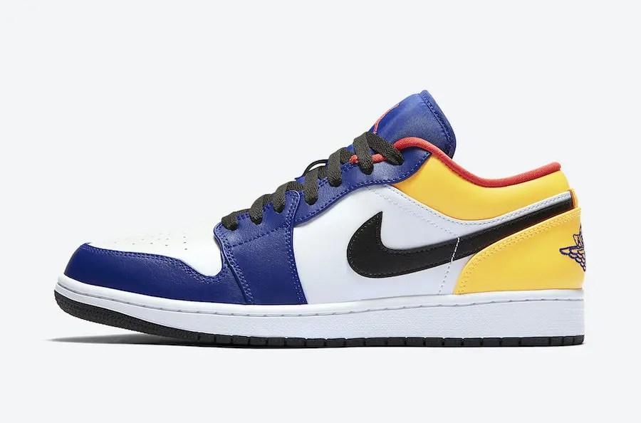 """Nike Air Jordan 1 Low """"White/Navy/Red/Yellow"""" (ナイキ エア ジョーダン 1 ロー """"ホワイト/ネイビー/レッド/イエロー"""") 553558-123"""
