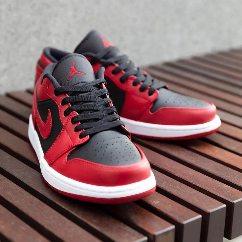 """Nike Air Jordan 1 Low """"Varsity Red"""" (ナイキ エア ジョーダン 1 ロー """"バーシティ レッド"""") 553558-606"""