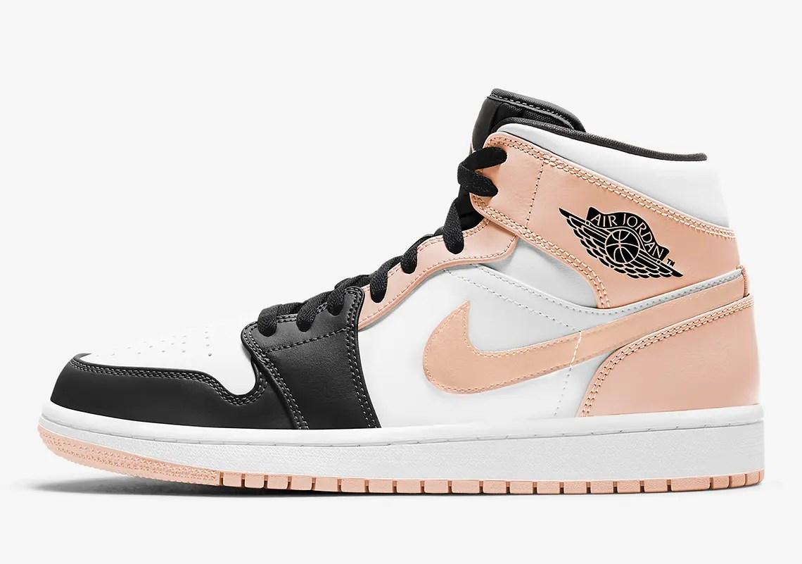 "Nike Air Jordan 1 Mid ""Crimson Tint"" (ナイキ エア ジョーダン 1 ミッド ""クリムゾン ティント"") 554724-133, 554725-133"