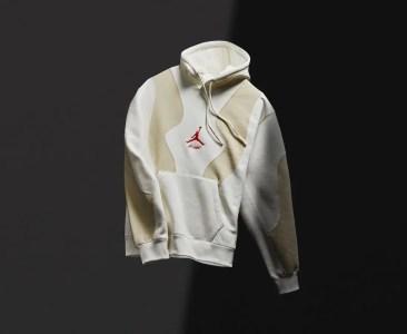 オフホワイト ナイキ コラボ エア ジョーダン 5 セイル Off-White Air Jordan 5 Sail Release Date DH8565-100 アパレル フーディ
