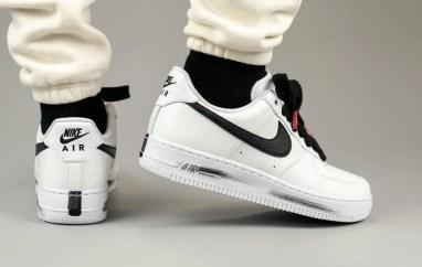 PEACEMINUSONE Nike Air Force 1 2.0 DD3223-100 ピースマイナスワン ナイキ エアフォース 1 パラノイズ ホワイト コラボ 着用 back side