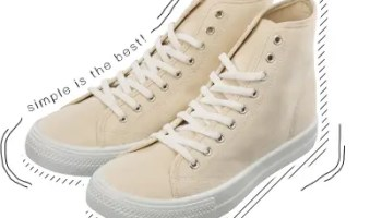 GU canvas high top sneakers White-05