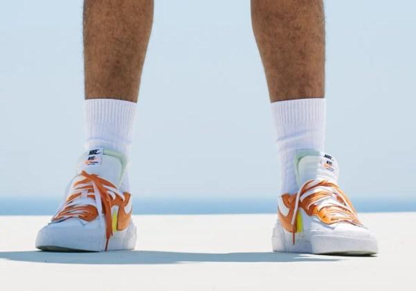 Sacai × Nike Blazer Low (サカイ × ナイキ ブレーザー ロー) Orange look