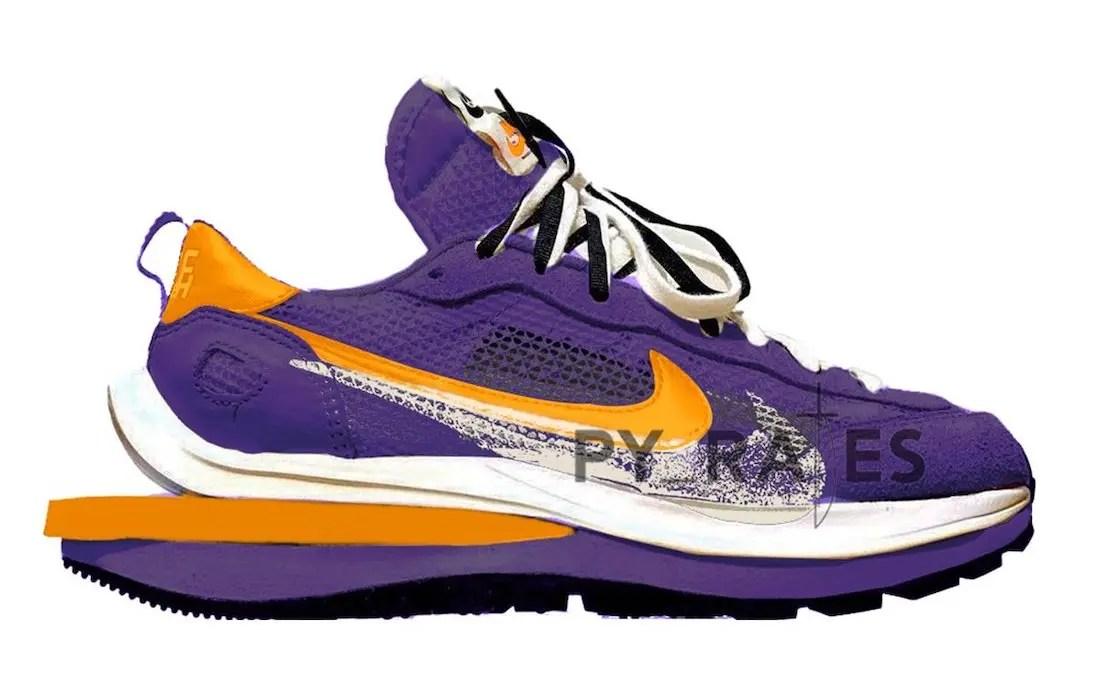 サカイ ナイキ コラボ ヴェイパーワッフル sacai Nike VaporWaffle Dark Iris Campfire Orange White py_rates