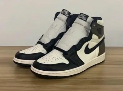 """Nike Air Jordan High """"Dark Mocha"""" ナイキ エアジョーダン ハイ """"ダークモカ"""" 555088-105 main pair toe"""