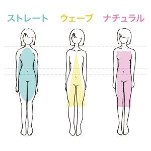 骨格タイプ 特徴 3タイプ ストレート ウェーブ ナチュラル Body Features Straight Wave Natural 3 types 正面