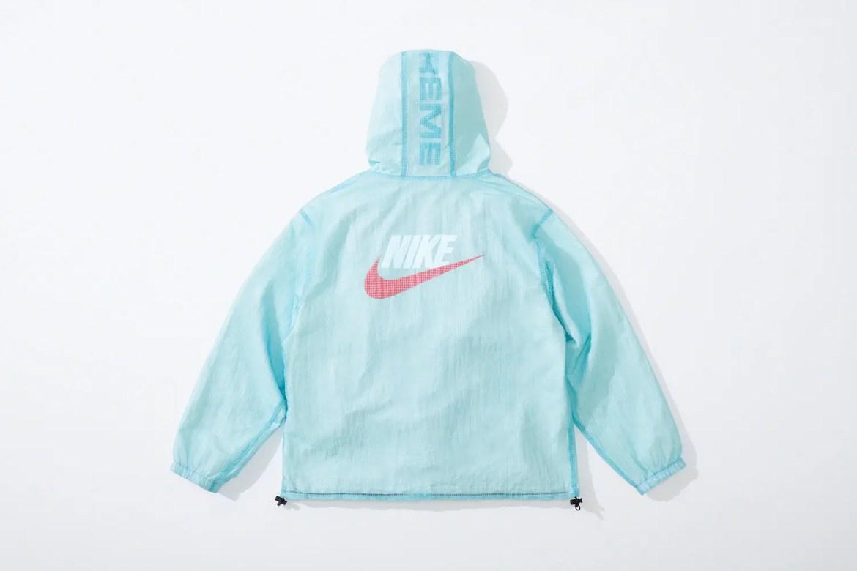 supreme nike collaboration apparel 2020fw 20200905 week2 シュプリーム ナイキ 2020秋冬 anorack blue back