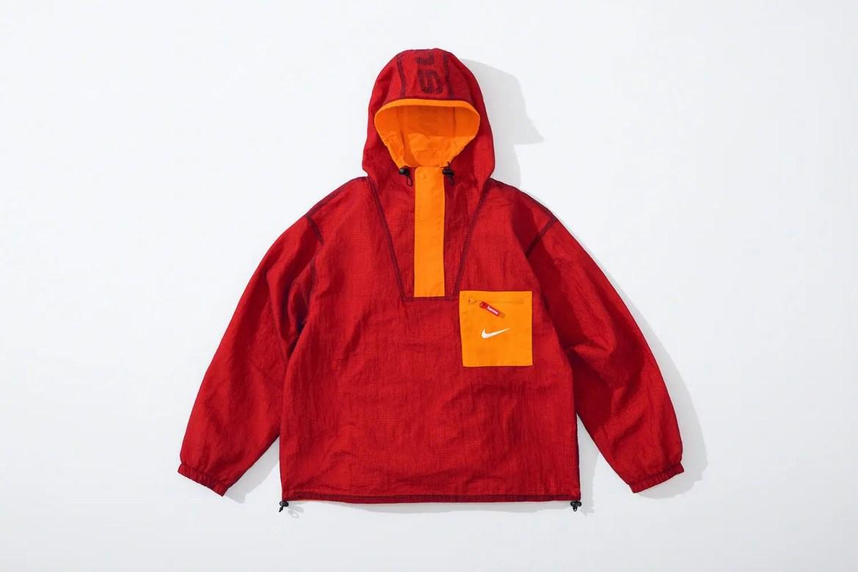 supreme nike collaboration apparel 2020fw 20200905 week2 シュプリーム ナイキ 2020秋冬 anorack red main