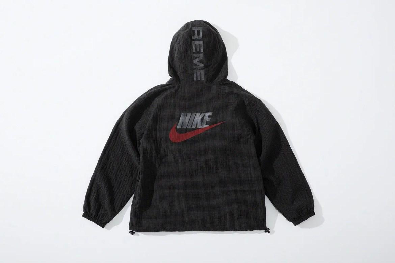 supreme nike collaboration apparel 2020fw 20200905 week2 シュプリーム ナイキ 2020秋冬 anorack black back
