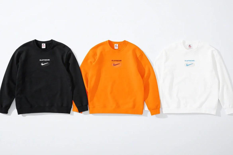 supreme nike collaboration apparel 2020fw 20200905 week2 シュプリーム ナイキ 2020秋冬 Crewneck all