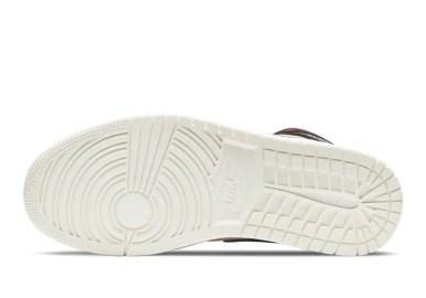 """ナイキ エア ジョーダン 1 ミッド """"バーガンディ/ ダスティピンク"""" Nike-Air-Jordan-1-WMNS-Dusty-Pink-Burgundy-sole"""