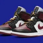 ナイキ エア ジョーダン 1 ミッド マロン nike air jordan 1 mid maroon black gold CZ4385-016 pair main