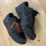 オフホワイト x ナイキ ダンク ロー ブラック Off-White-Nike-Dunk-Low-Black-pair-side