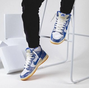 カーペット カンパニー × ナイキ SB ダンク ハイ Carpet-Company-x-Nike-SB-Dunk-High-CV1677-100-pair-on-foot-chair