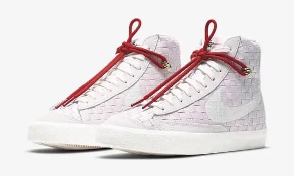 """ナイキ ブレーザー ミッド 77 """"刺し子""""/ ベアリーローズ Nike-Blazer-Mid-77-Vintage-Sashiko-Barely-Rose-DD5402-078-pair"""