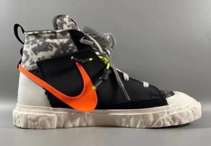 レディメイド × ナイキ ブレーザー ミッド/ ブラック READYMADE-Nike-Blazer-Mid-Black-CZ3589-001-side