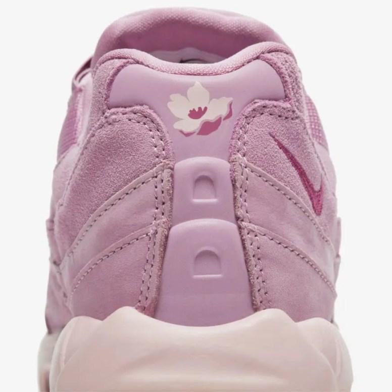 """ナイキ ウィメンズ エア マックス 95 """"ピンクスエード"""" Nike-WMNS-Air-Max-95-Pink-Suede-DD5398-615-heel-closeup"""