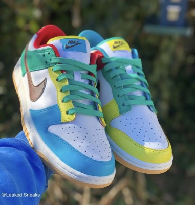 "Nike Dunk Low SE ""Free 99"" ナイキ ダンク ロー SE ""フリーナインティナイン"" White/ Light Chocolate-Roma Green DH0952-100"