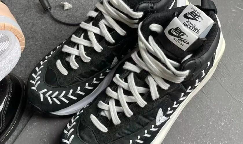 サカイ × ジャン ポール ゴルチエ × ナイキ バイパーワッフル Sacai-Jean-Paul-Gaultier-Nike-VaporWaffle-pair