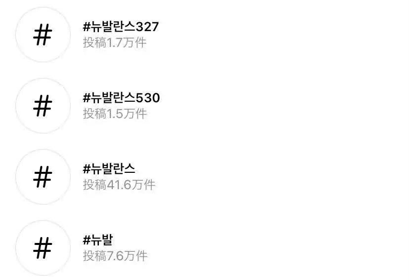ニューバランス 韓国 スニーカー 人気 327 530 new-balance-korean-tag-instagram