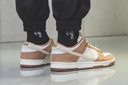 """ナイキ ダンク ロー プレミアム """"ミディアム カリー"""" Nike-Dunk-Low-Medium-Curry-DD1390-100-pair-on-foot"""