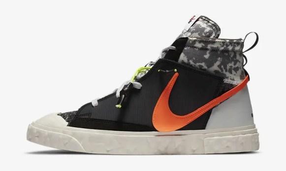 レディメイド × ナイキ ブレーザー ミッド/ ブラック READYMADE-Nike-Blazer-Mid-Black-CZ3589-001-detail main official