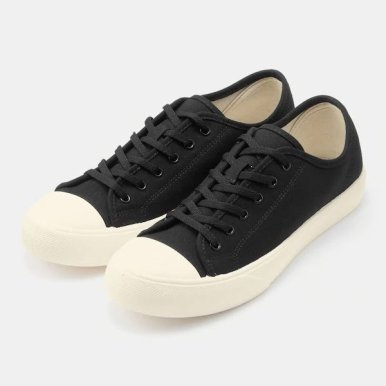 GU ジーユー クリーン キャンバス スニーカー ブラック Clean-Canvas-Sneaker-black