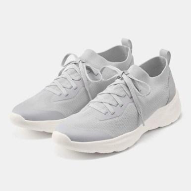 GU ジーユー ニット スニーカー グレー Knit-Sneakers-Grey
