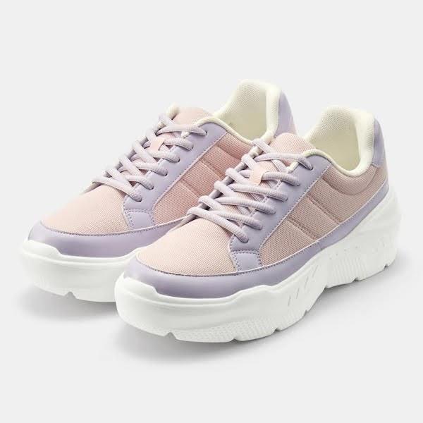 GU ジーユー ボリューム ソール スニーカー ライト パープル Volume-Sole-Sneaker-Light-Purple 厚底
